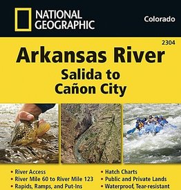 National Geographic Maps Nat Geo Map Arkansas River Salida to Canon City