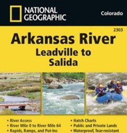 National Geographic Maps Nat Geo Map Arkansas River Leadville to Salida