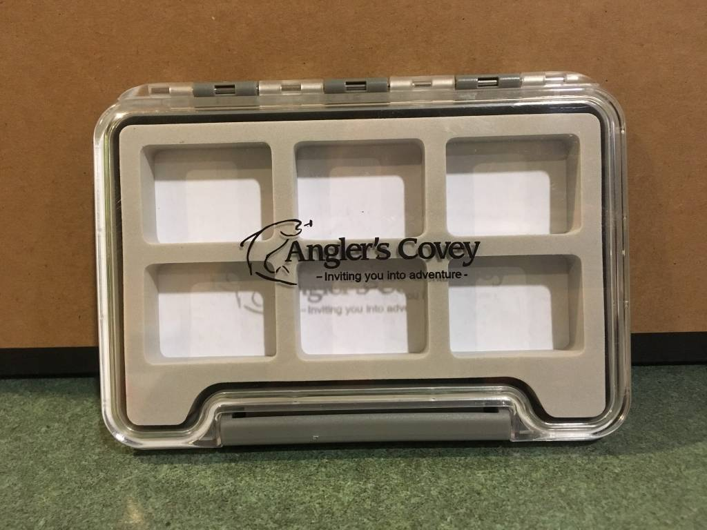 New Phase New Phase Waterproof Clear Thin Fly Box - 6 Comp