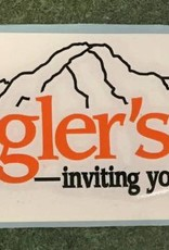 Get Stuck Vinyl LLC Angler's Covey Decal Orange/White
