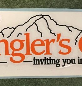 Get Stuck Vinyl LLC Angler's Covey Decal Orange/White