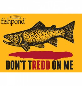 Fishpond Fishpond Don't Tredd Sticker 6""