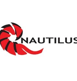 "Nautilus Reels Nautilus Small Window Sticker 5"" x 2"""