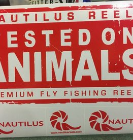 Nautilus Reels Nautilus Tested on Animals Decal Sheet