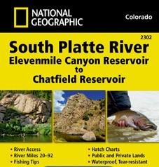 National Geographic Maps Nat Geo Map South Platte River Elevenmile Canyon Reservoir to Chatfield Reservoir