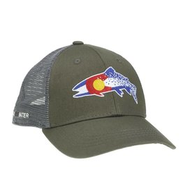 Rep Your Water Colorado Clarkii Low Profile Mesh Back Hat - Green/Gray