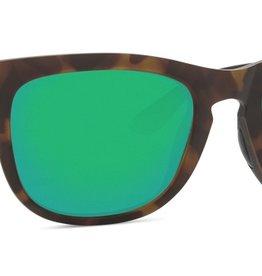 Costa Del Mar Costa Copra Matte Retro Tort/Crys/Blk Frame Green Mirror 580P Lens