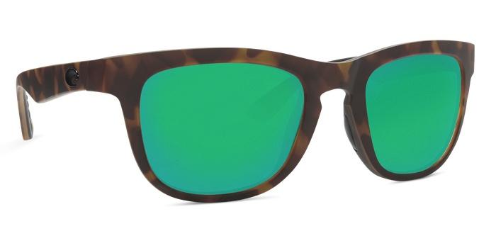 Costa Del Mar Costa Copra Matte Retro Tortoise Crystal Black Frame Green Mirror 580P Lens