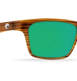 Costa Del Mar Costa Hinano Driftwood White Khaki Frame Green Mirror 580P Lens