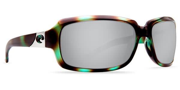 Costa Del Mar Costa Isabela Shiny Seagrass Frame Silver Mirror 580P Lens