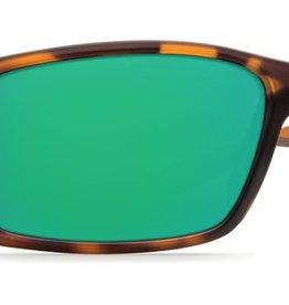 Costa Del Mar Costa Reefton Matte Retro Tortoise Frame Green Mirror 580P Lens