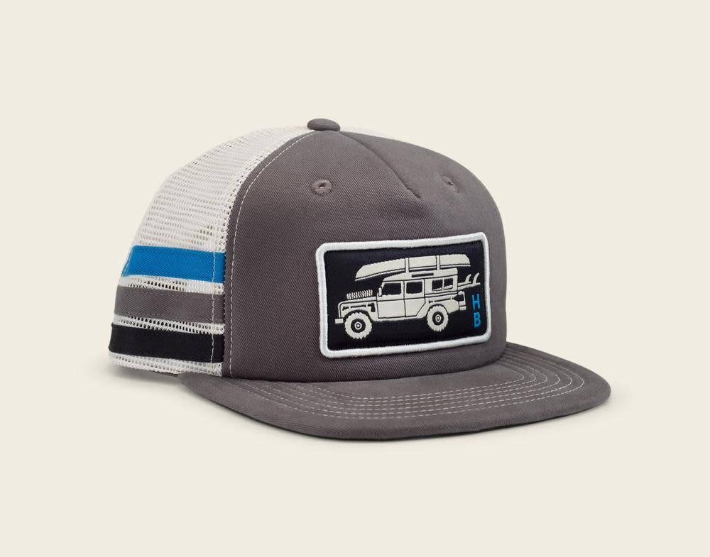 Howler Brothers Howler Bros Pilgrimage Snapback Cap Grey Stripes
