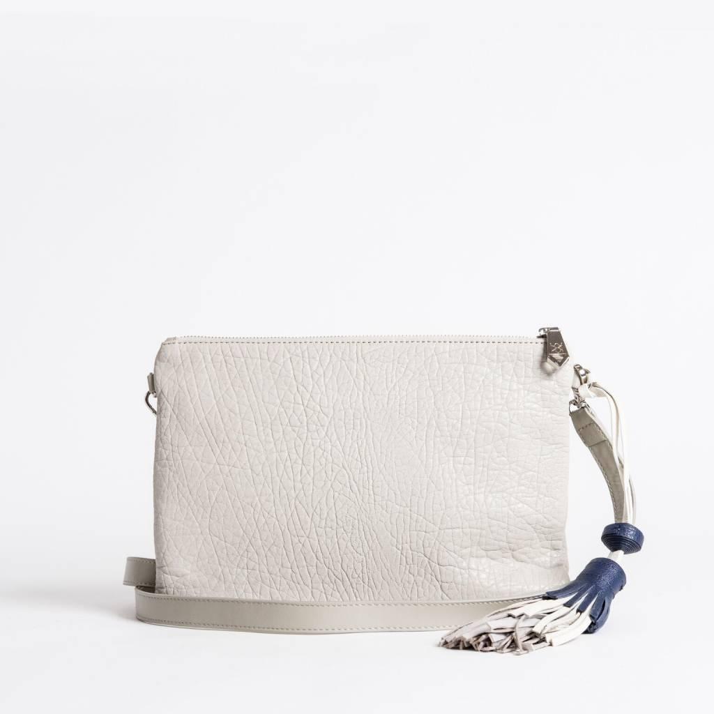 Christopher Kon HX05665 Leather Clutch White