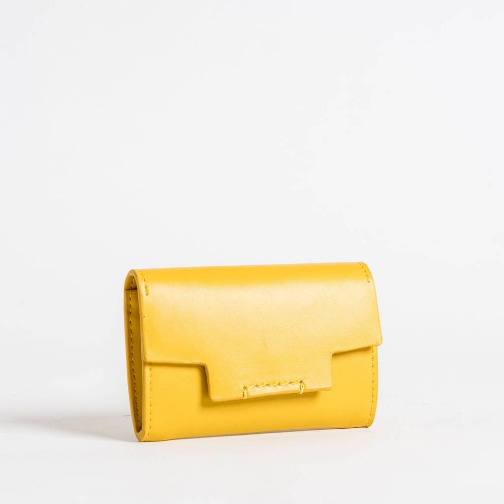 Christopher Kon HX05668 Leather CC Case Yellow