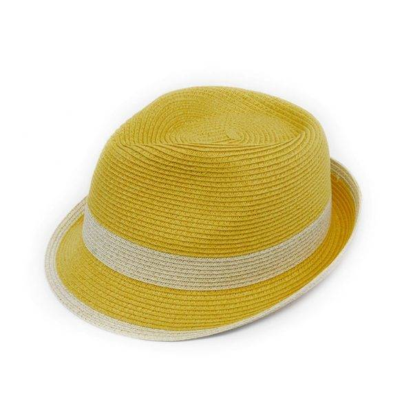 Joy Susan Joy Susan Fedora Natural Band Yellow