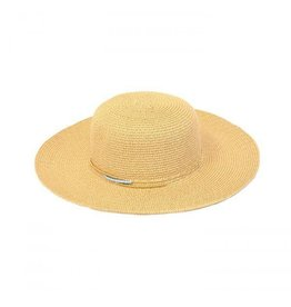 Joy Susan Joy Susan Beige Sun Hat with Turquoise and Gold Beads
