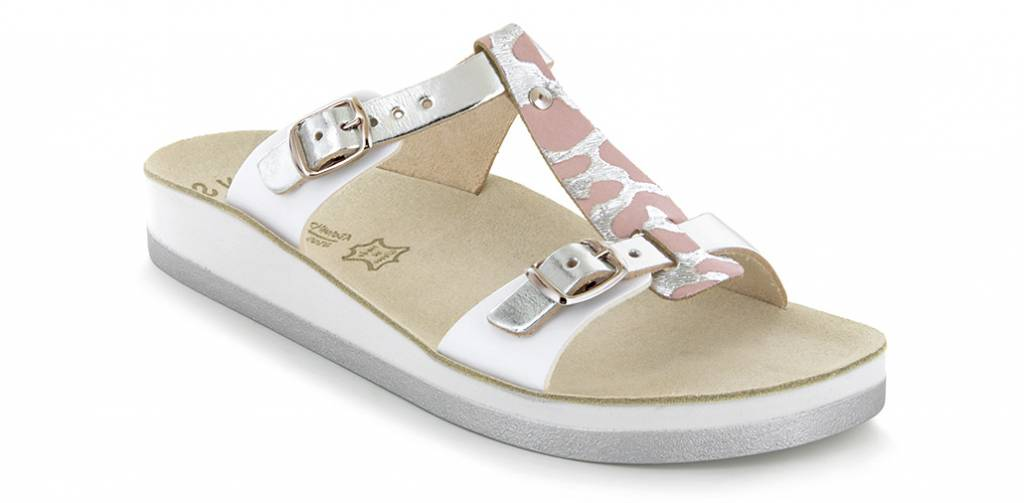 Fantasy Sandals Jessamine Silver Antelope