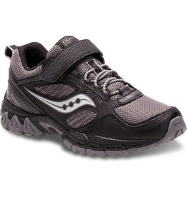 Saucony Boys Excr Shld Blk/ Gry
