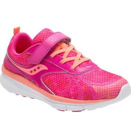 Saucony Girls Velocity AC Pin/Cor