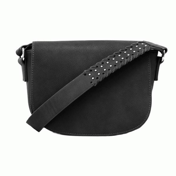 Joy Susan Joy Susan Arianna Saddle Bag Black
