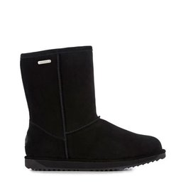 Emu Paterson Lo Waterproof Suede Black