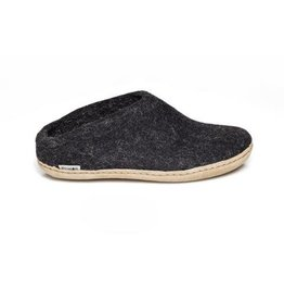 Glerups Glerups The Slipper Rubber Sole Black