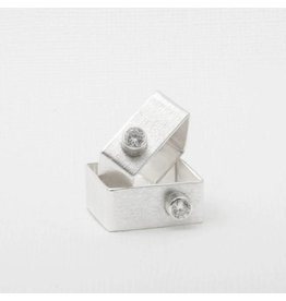 Laughing Sparrow Laughing Sparrow Square Brushed Ring 202 02