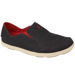 Olukai Mens Nohea Mesh Carbon/Deep Red