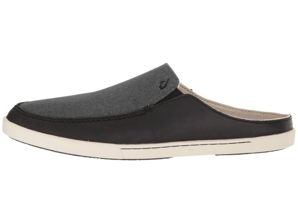 OluKai Olukai Womens Huaka Mule Black/Dark Shadow