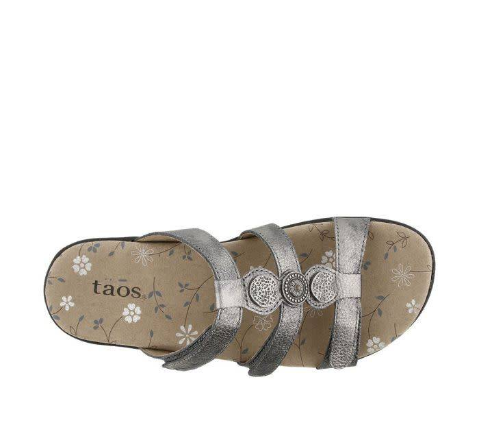 Taos Footwear Taos Prize 3 Pewter Sandal