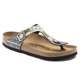 Birkenstock 1009804 Women's Gizeh Ancient Mosaic Blue BF