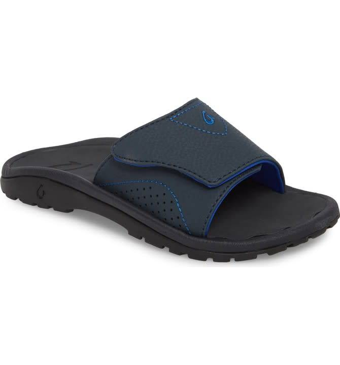 OluKai Olukai Boys Nalu Slide Blue