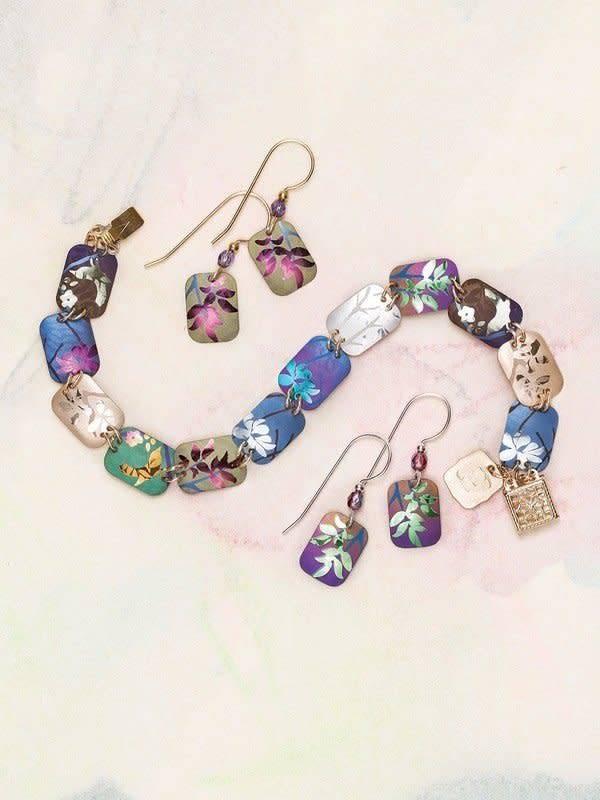 Holly Yashi Evergreen Leaf Earrings 1005