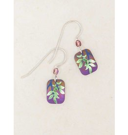 Holly Yashi Evergreen Leaf Earrings 1005