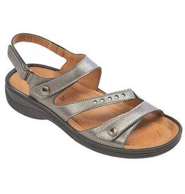 Biotime Ava Metallic Pewter Sandal