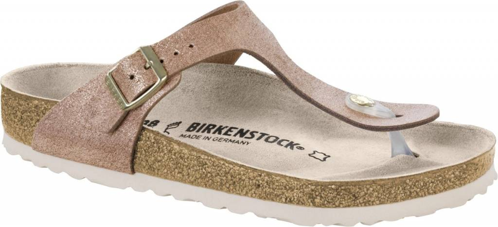 Birkenstock Birkenstock Women's 1008793 Gizeh Washed Metallic Rose Gold