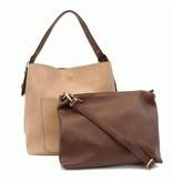Joy Susan Joy Susan Molly Classic Hobo Handbag Beige