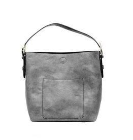 Joy Susan Molly Classic Hobo Handbag Grey