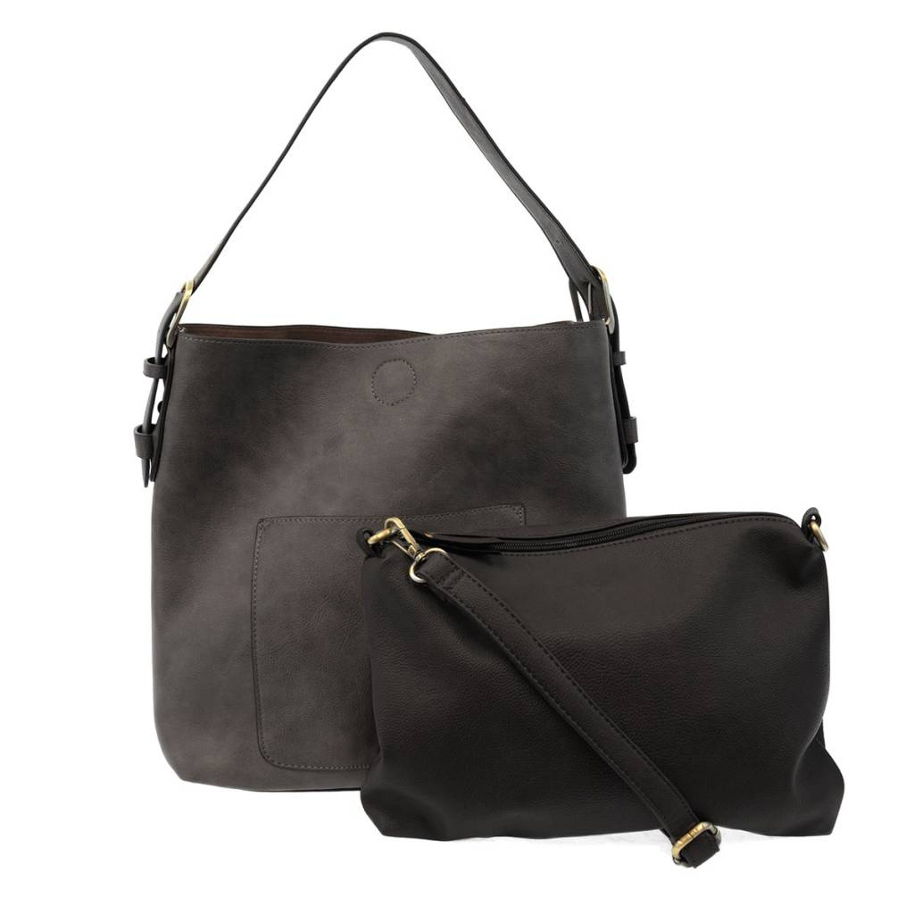 Joy Susan Joy Susan Molly Classic Hobo Handbag Charcoal