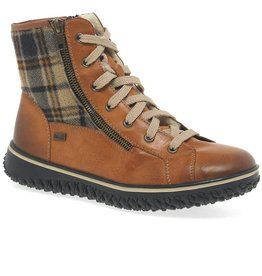 Rieker Eagle Plaid Boot Cayenne