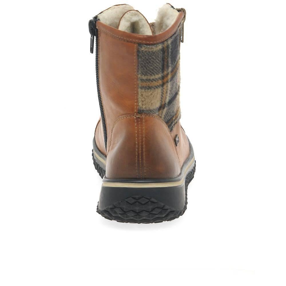 Rieker Rieker Eagle Plaid Boot Cayenne