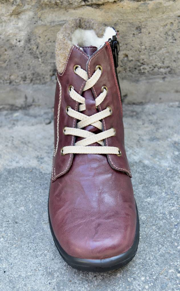 Rieker Rieker Z7112-35  Ankle Boot Red Combo