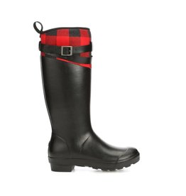 Muck Women's Tremont Tall Strap Boot Black/Red