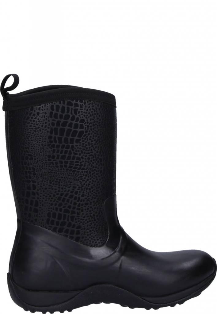 Muck Muck Women's Arctic Weekend Boot Black/Croc Print