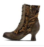L' Artiste Bewitch Bootie Olive Multi