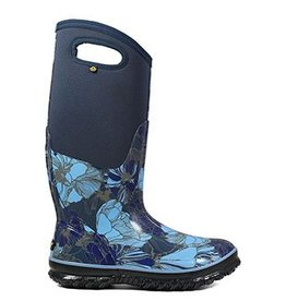 Bogs Womens 72257 Classic Tall Vintage Floral Blue