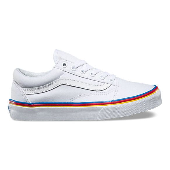 vans old skool rainbow skate shoe