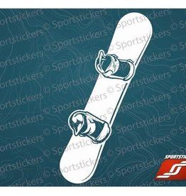 Sportstickers Snowboard - White