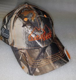 TrailWalker Gear TWG Distressed Camo Cap, XD3 Orange