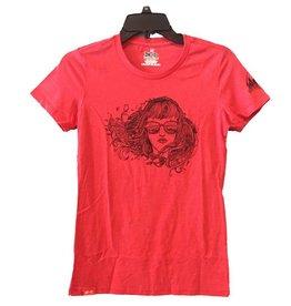 meridian line Bird Babe Women's T-Shirt